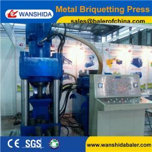 Quality WANSHIDA Y83-5000 Stock cheap scrap iron brass steel chip press aluminum briquette machine wholesale
