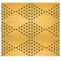 China MDF Board Music Studio Acoustic Panels Perforation Wooden Timber Acoustic Wall Panels on sale