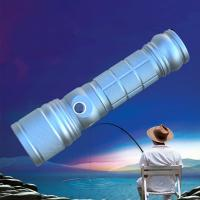 Quality Rotating Zoom CREE BLUE UV Q5 & 1000 Lms T6 Double Lights LED Flashlight/Torch for Fishing wholesale