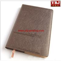 Quality china guangzhou ybj Cheap Starbucks leisure leather log book / Real leather organizer book wholesale