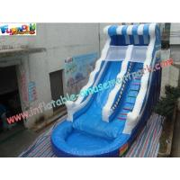 China Outdoor Inflatable Water Slides With Slide Pool , Inflatable Sport Games on sale