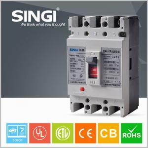 Quality 3 / 4 Poles Molded Case Earth Leakage Circuit Breaker 100 Amp 3P MCCB wholesale