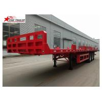 China 60T Platform Semi Trailer Long Cargos on sale