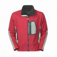 Quality Men's Outdoor Wear with Waterproof Zipper, Laser Cut Pocket and 3-layer Soft Shell wholesale