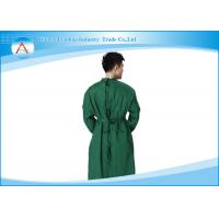 Waterproof And Anti-static Green Striped Reusable Surgical Gowns for doctor
