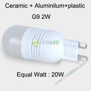 China 2W LED Bulb G9 Ceramic + Aluminilum+plastic Warm White,super bright led g9 bulb on sale