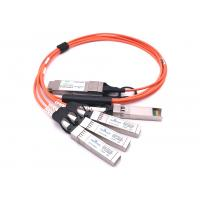 Quality 25.78 Gbps/CH 100G QSFP28 DAC To 4x 25g Sfp28 Qsfp28 Breakout Cable FCC Certification wholesale