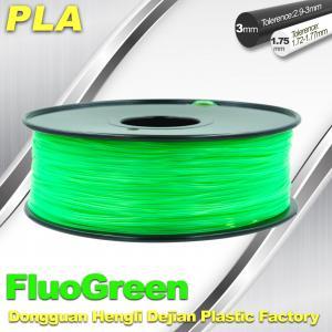 Cheap 1.75 / 3mm Fluorescent Filament PLA Fluo filament bright color filament for sale