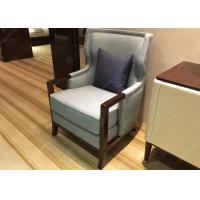 Quality Elegant Wooden Style Hotel Room Chairs High Density Foam Environment - Friendly wholesale