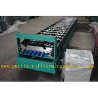 Quality Corrugated Roof Wall Cladding Cold Roll Forming Machine With PLC System 0.3mm - 0.8mm wholesale