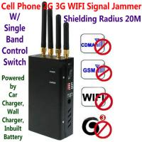 Quality 4 Antenna Portable Cell Phone GSM 3G WIFI Signal Jammer Blocker W/ Single Band Switch wholesale