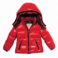 Quality Children's Down Jacket, Waterproof Zipper and Breathable Fabric wholesale