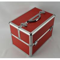China Multi Color Diamond ABS Aluminum Makeup Train Box , Protable Cosmetic Vanity Case on sale