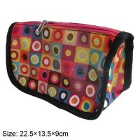 Quality Colourful lightweight travel cosmetic bag with fade - less fabric , mini cosmetic pouch wholesale