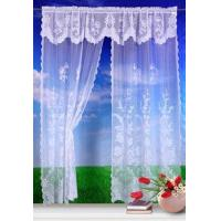 Polyester Lace Curtain with Attached Valance