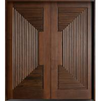 China Double interior swing solid wooden door, modern wood door price on sale