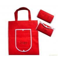 China Red Foldable Promotional Gift Bags Canvas Shopping Tote Eco Friendly on sale