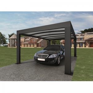 Quality Anthracite Garden Shade Netting / Carport Cubus Single Genua Induction Garage wholesale