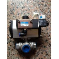China Penumatic Actuator1 Inch Stainless Steel 3 Way Ball Valve on sale