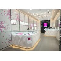 Quality Attractive Pule White Jewellery Showcases Display With Customize Logo wholesale