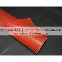 China One side fiberglass silicone rubber coated fabric on sale