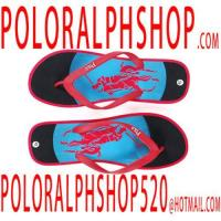 Quality wholesale cheap polo men slippers black blue Red horse wholesale