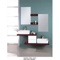 Quality 1200 * 460mm floating double vanity , floating wood vanity Silver Mirror with oak Mirror Shelf wholesale
