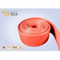 Quality Fire Retardant Silicone Coated Fiberglass Sleeving 100% E - Glass Yarn wholesale
