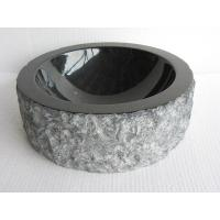 Quality absolute black farmhouse sink ,Round Granite or marble stone Sink for bathroom wholesale