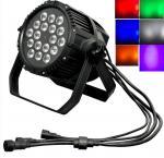 Quality IP66 Waterproof Digital Display LED 18Bulbs x 18W Balck Cast RGBWA+UV Par Light wholesale