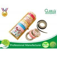 Quality Printed Waterproof Masking Tape , Washi Colored Paper Masking Tape For Kid wholesale