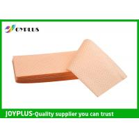 Quality Yellow Green Color Non Woven Cloth , Window Cleaning Cloths Extra Absorbent wholesale