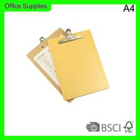 Quality Office supply wood single side writing board,Plate clamp size A4 wholesale