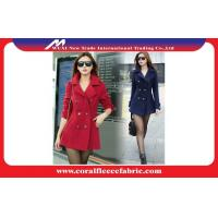 China Girls Woollen Blended Long Trench Jacket / Outerwear Jackets Red or Black on sale