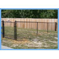 China PVC Coated Chain Link Fence Fabric , 50 Foot Chain Link Fence Fit House Gardens on sale