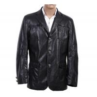 China OEM 100% Viscose and Knitting, Size 46 and Black / Dark Red Mens PU Leather Blazers on sale