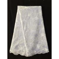 China 2015 Latest High Quality White Swiss Cotton Voile Emboidery African Lace For Party Dress on sale