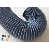 Quality 150mm Grey PVC Coated Fiber Glass Hose Fiberglass Flexible Air Ducting wholesale