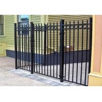 China Wholesale & Low Price Black Powder Painted Steel Used Aluminum Fence, Metal Sheet Fence 2400mm x 1800mm on sale
