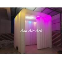 Quality new photo booth enclosure wedding party event inflatable photo booth led strip for sale wholesale