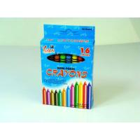 Quality Non-toxic 16 PCS Eco-Friendly Wax Crayon in Bulk in Color Box wholesale