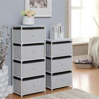 Quality Daily Necessities Bedroom Storage Units, CE Storage Shelving Units With Fabric Drawer wholesale