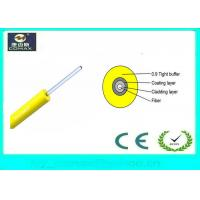 China GJFJV Indoor Fiber Optic Cable 0.9mm Tight Buffered Cable Duplex Ling Weight on sale