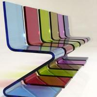 Quality Eco-Friendly Colored Clear Acrylic Chairs For Business Gift , Laser Cutting wholesale
