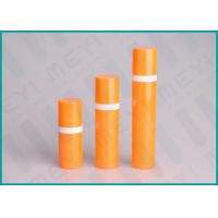 Quality Orange PP Airless 15ml 50ml 30ml Pump Bottle Cylinder Shape For Cosmetics wholesale