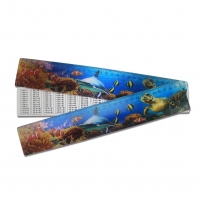 China Ocean Creature 4.5 x 21cm 3D Ruler Lenticular Printing Services For Kid Gifts on sale