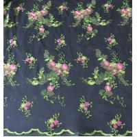 Quality Flower in springof Embroidery lace fabric for bridal gown wholesale