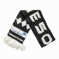 Quality Knitted football scarves with stripes wholesale
