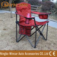 Quality Jacquard Fabric Outdoor Camping Car Accessories , Folding Camping Chair wholesale