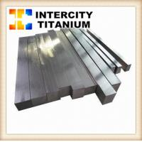 Cheap ASTM B348 Gr5 ti6al4v titanium bar wholesale flat bar made in China  in Stock for sale